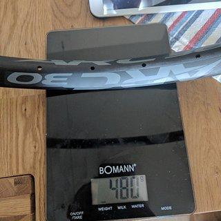 Gewicht Race Face Felge ARC30 27,5 30mm innen