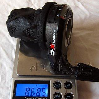 Gewicht SRAM Drehschaltgriff X0 (tuned) 10-fach
