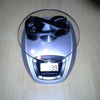 Gewicht FUNN Vorbau Stryge 31.8mm, 60mm, 7°
