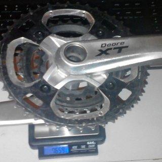 Gewicht Shimano Kurbelgarnitur XT FC-M770 175mm, 22-32-44Z