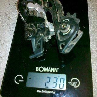 Gewicht Shimano Schaltwerk XT RD-M780 GS Short Cage