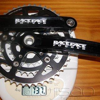 Gewicht Race Face Kurbelgarnitur Turbine 175mm, 24-34-46Z