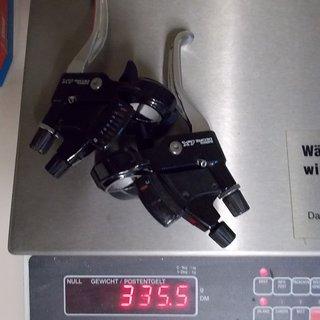 Gewicht Shimano Brems-/Schalthebel-Kombi Deore LX ST-M567 3x8-fach