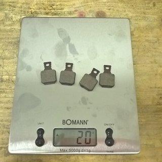 Gewicht Magura Bremsbelag Typ 8.1 Performance