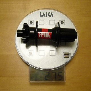 Gewicht DT Swiss Nabe 240s 150mm/12, 32-Loch
