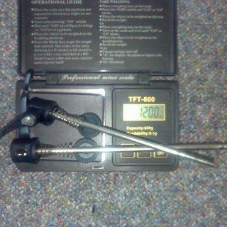 Gewicht Shimano Schnellspanner XTR 970er-Serie 100mm, 135mm