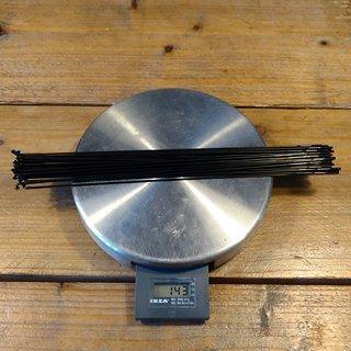 Gewicht Sapim Speiche Laser 266mm, 32 Stück