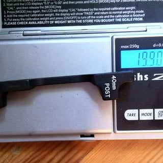 Gewicht Avid Scheibenbremsadapter Adapter PM >>> PM +40