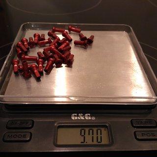 Gewicht Sapim Speichennippel Polyax Alu 32x, 2mm, 12mm