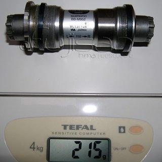Gewicht Shimano Innenlager XTR BB-M952 Octalink, 68/116mm, BSA