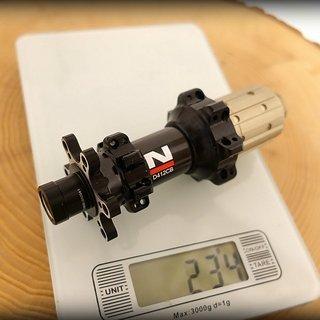 Gewicht Novatec Nabe D412CB 142mm/12  28-Loch
