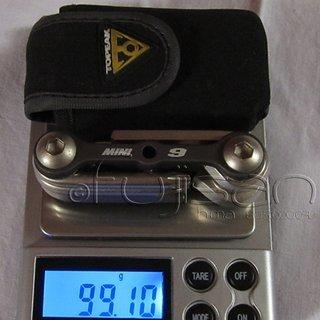 Gewicht Topeak Werkzeug Mini 9