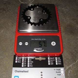 Gewicht Shimano Kettenblatt SLX FC-M660 64mm, 26Z