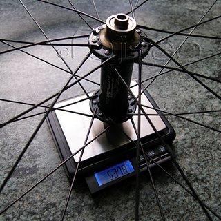 Gewicht Extralite Systemlaufräder UltraHub + ZTR 355 VR, 100mm/QR