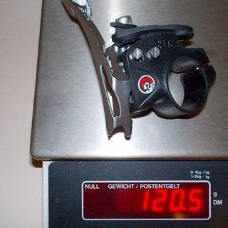 Gewicht Sachs Umwerfer DI.R.T. Centera 31.8 mm