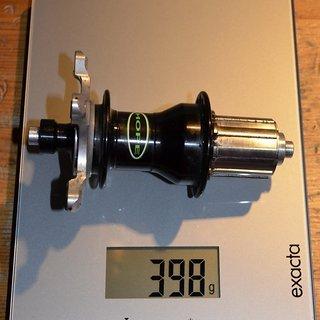Gewicht Hope Nabe Bulb rear 135 QR