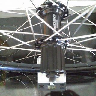 """Gewicht Shimano Systemlaufräder Deore FH-T610 - Rigida Yura 22 - DT Comp/Revo 26"""", HR, 135mm/QR"""