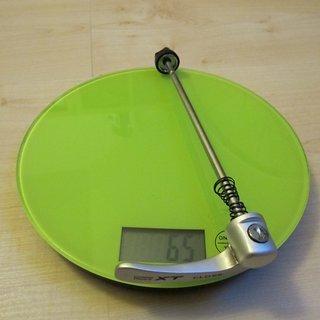 Gewicht Shimano Schnellspanner XT 775er-Serie 135mm
