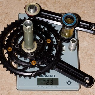 Gewicht KCNC Kurbelgarnitur K-Type XC2 175mm, 22-32-44Z