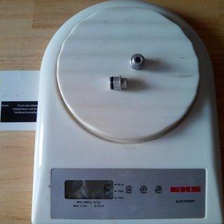 Gewicht Mavic Weiteres/Unsortiertes Adapter 12x135mm HR, 135mm/QR HR, 135mm/QR