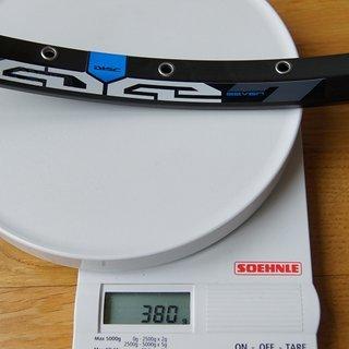 "Gewicht Ryde Felge Edge 7 26"", 559x17, 32 L"