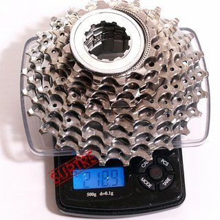 Gewicht Shimano Kassette Ultegra CS-6500 9-fach, 12-25Z