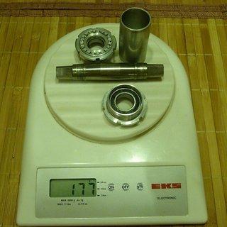 Gewicht IBS Innenlager Titanium 4-kant, 68-73/107mm, BSA
