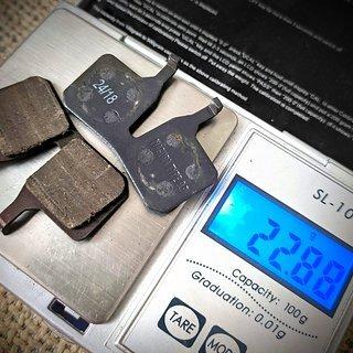 Gewicht Magura Bremsbelag 9 P MT 4 kolben