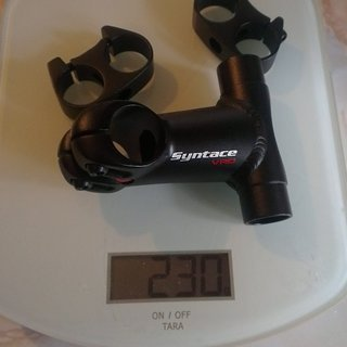 Gewicht Syntace Vorbau VRO T-Stem MTB 25.4mm, 55-105mm, 20°