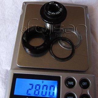 Gewicht FSA Schrauben, Muttern Kurbelarmschraube M17x20, Stahl