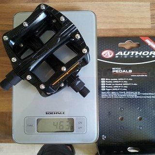 Gewicht Author Pedale (Platform) APD-F11-ALU schwarz /MTB, BMX / 9/16-Standard 90x95x23mm