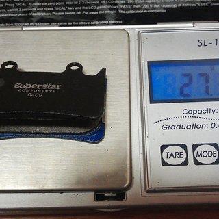 Gewicht Superstar Components Bremsbelag H5 - Organic Hope Mono 6 Ti