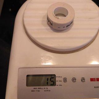 Gewicht Velox Felgenband Fond de Jante Coton 16mm, 2000mm