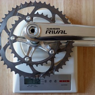 Gewicht SRAM Kurbelgarnitur Rival 175mm, 34/50Z