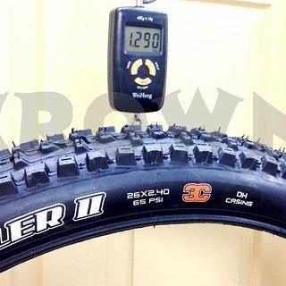 """Gewicht Maxxis Reifen High Roller II 26x2,4"""", 61-559"""