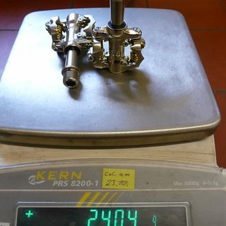 Gewicht Ritchey Pedale (Klick) WCS V5 Paradigm
