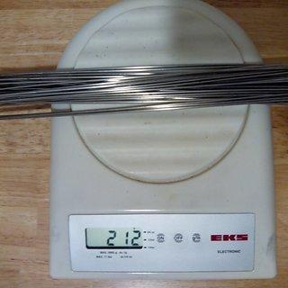 Gewicht DT Swiss Speiche Champion 284mm, 32 Stück