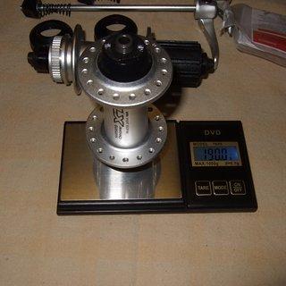 Gewicht Shimano Nabe XT HB-M765 100mm/QR, 32-Loch
