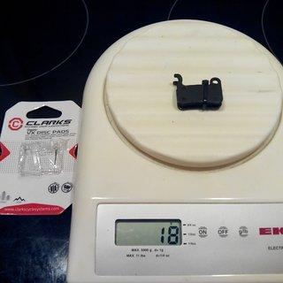Gewicht Clarks Bremsbelag VX824C Shimano XTR/XT/SAINT Organic
