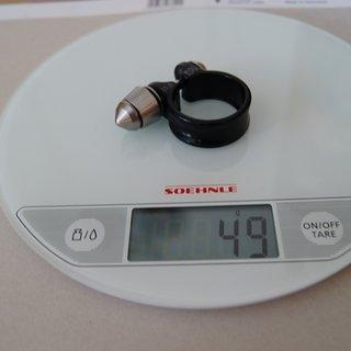 Gewicht Pitlock Sattelklemme Set 6 u. Klemme 31.6mm
