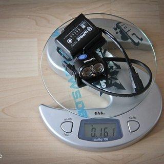 Gewicht Lupine Beleuchtung Piko X Duo 1,7Ah Akku
