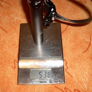 Gewicht Rock Shox Sattelstütze höhenverstellbar Reverb 31,6 x 350mm