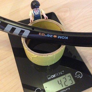 "Gewicht WTB Felge KOM i23 26"" / 559x23 / 32 Loch"