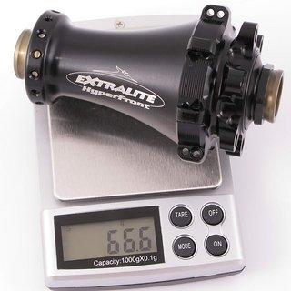 Gewicht Extralite Nabe HyperFront 100mm/15, 28-Loch