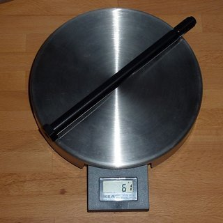 Gewicht Nicolai Achse Steckachse (Al) 150 x 12mm