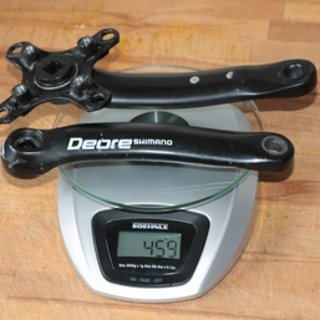 Gewicht Shimano Kurbel Deore FC-M510 175mm, 4-kant