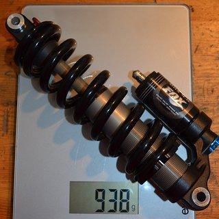 Gewicht Fox Racing Shox Dämpfer DHX 4 inkl Feder 222/70