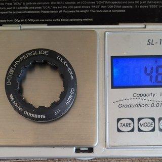 Gewicht Shimano Kassettenabschlussring XTR CS-M970 11Z