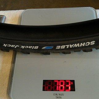 """Gewicht Schwalbe Reifen Black Jack 26x2.1"""" / 54-559"""