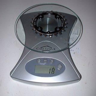 Gewicht KCNC Kettenblatt Bearbone XC1 64mm, 22Z